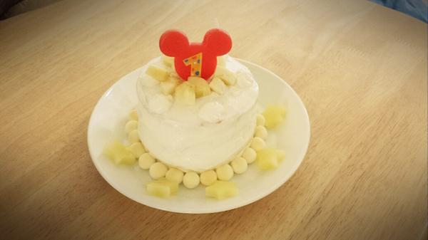 1歳,誕生日,ケーキ,手作り