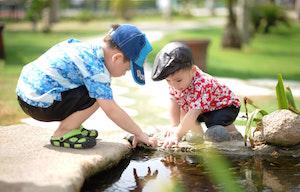 ☆鶴舞公園で水遊び☆